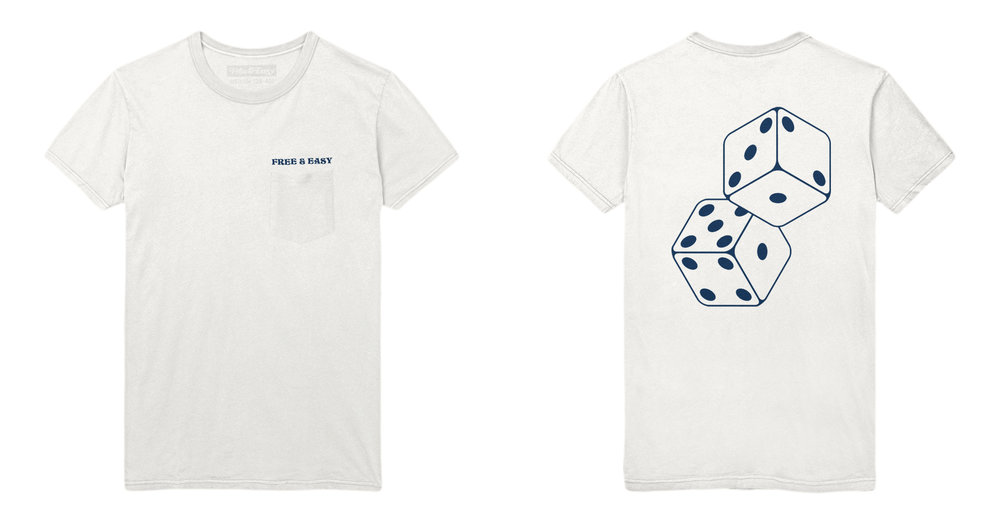 DICE SS POCKET TEE (WHITE)