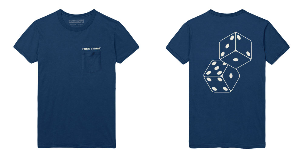 DICE SS POCKET TEE (NAVY)