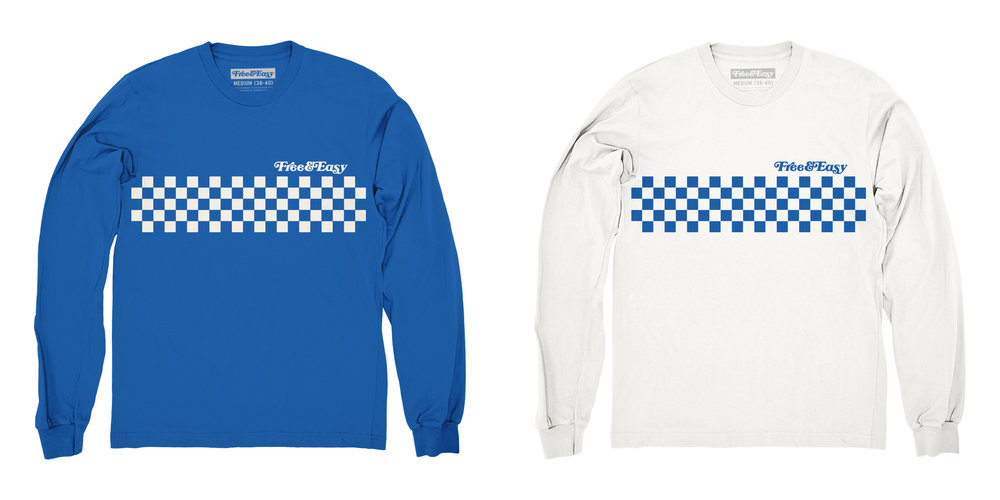 CHECKERED CHEST LS (BLUE) / CHECKERED CHEST LS (WHITE)