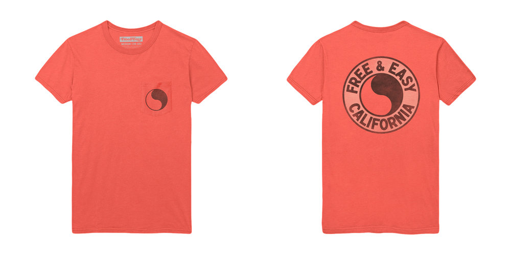 PACIFIC SS POCKET TEE [CORAL]