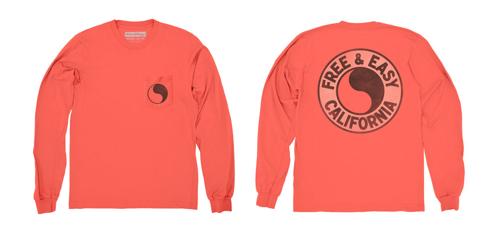 PACIFIC LS POCKET TEE [CORAL]