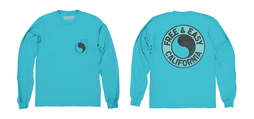 PACIFIC LS POCKET TEE [ISLAND BLUE]