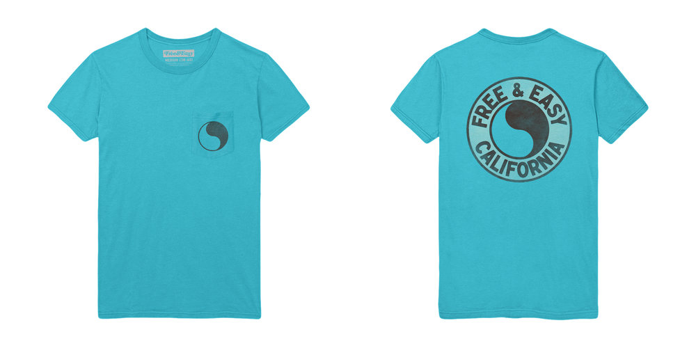 PACIFIC SS POCKET TEE [ISLAND BLUE]