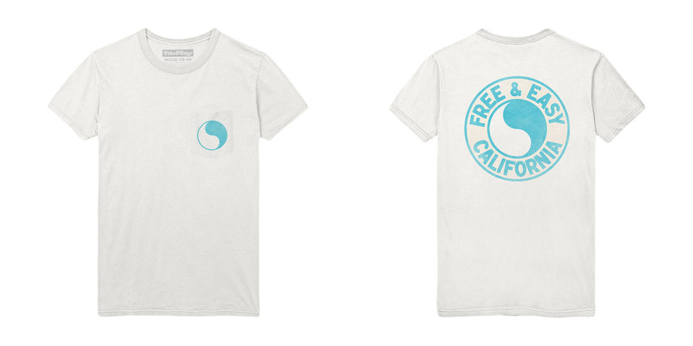 PACIFIC SS POCKET TEE [WHITE+ISLAND BLUE]
