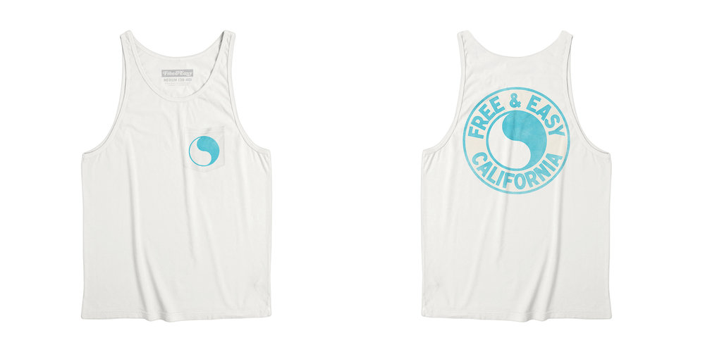 PACIFIC POCKET TANK [WHITE+ISLAND BLUE]