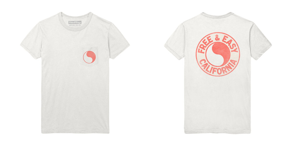 PACIFIC SS POCKET TEE [WHITE+CORAL]