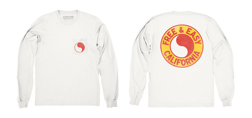 PACIFIC LS POCKET TEE [WHITE+R/Y]
