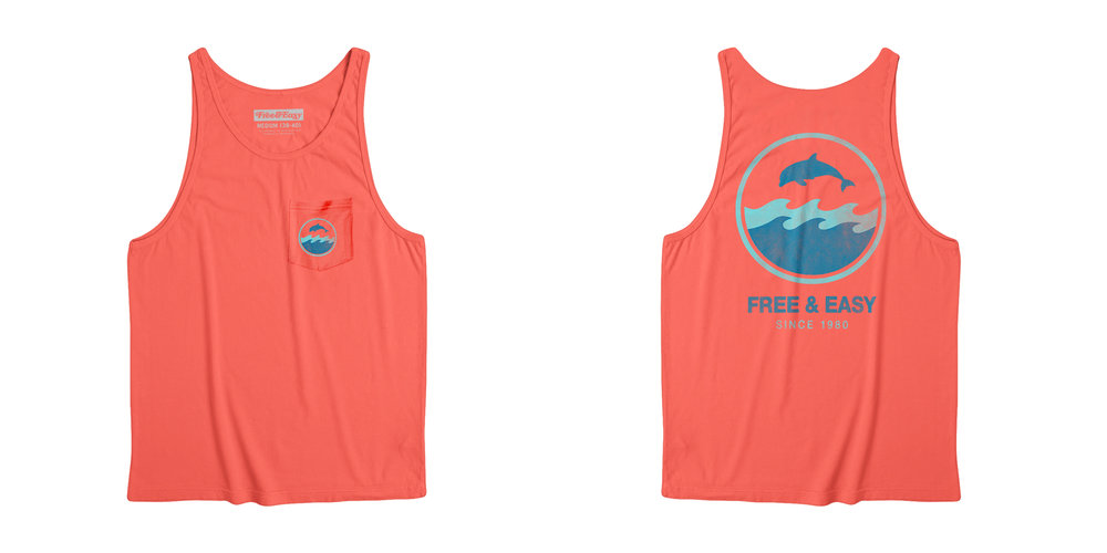 DOLPHIN WAVE POCKET TANK [CORAL]