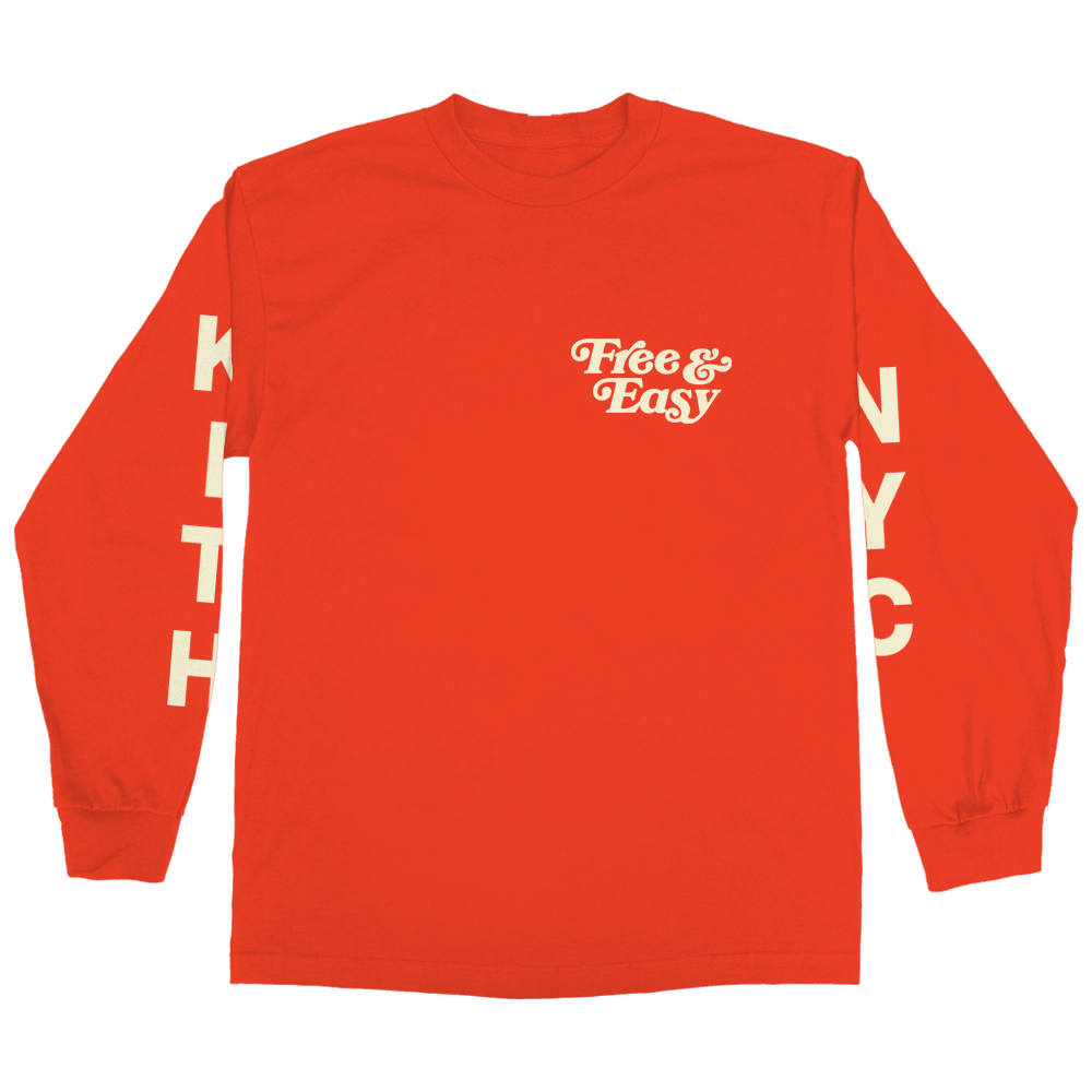 KITH X FE LS TEE (RED)