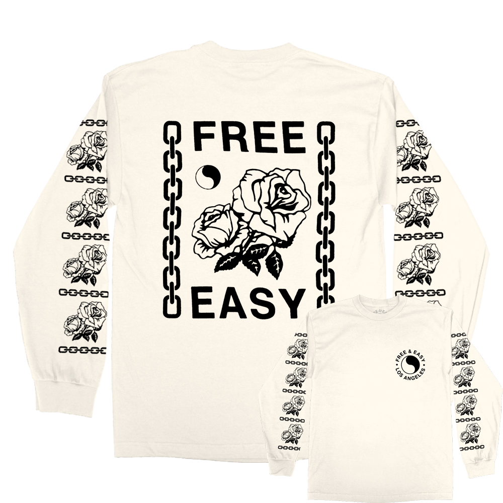 CHAINS & ROSES LS TEE [WHOLESALE: $29]