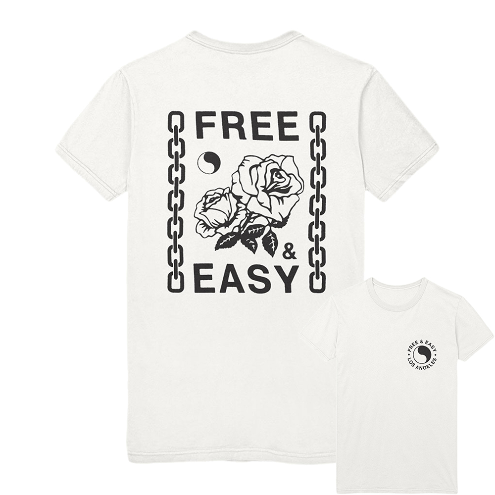 CHAINS & ROSES SS TEE [WHOLESALE: $24]
