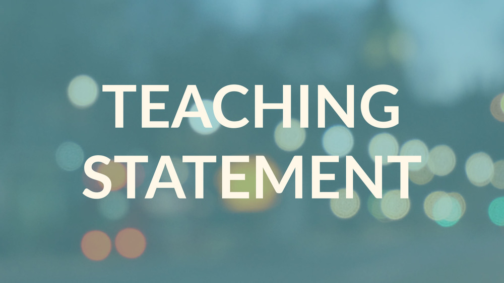 Teaching Statement Link