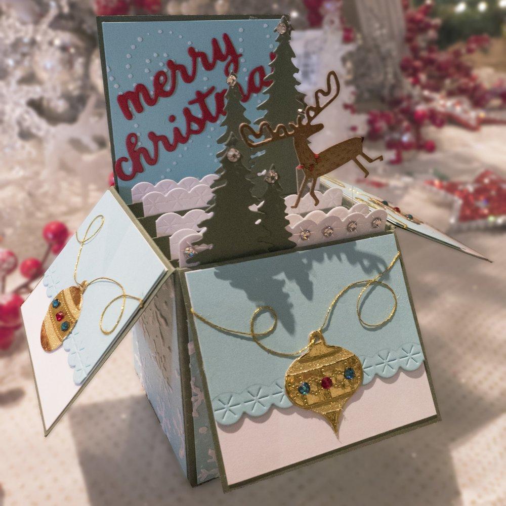 pop up box christmas card jen s craft room