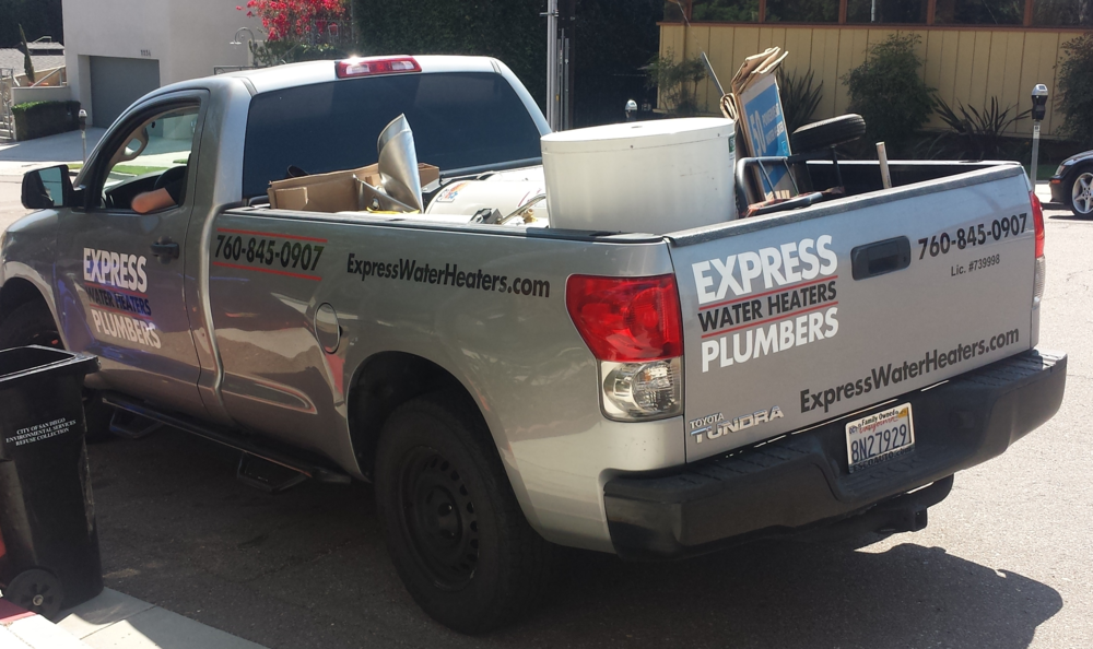 recycle truck express waterheaters dot com