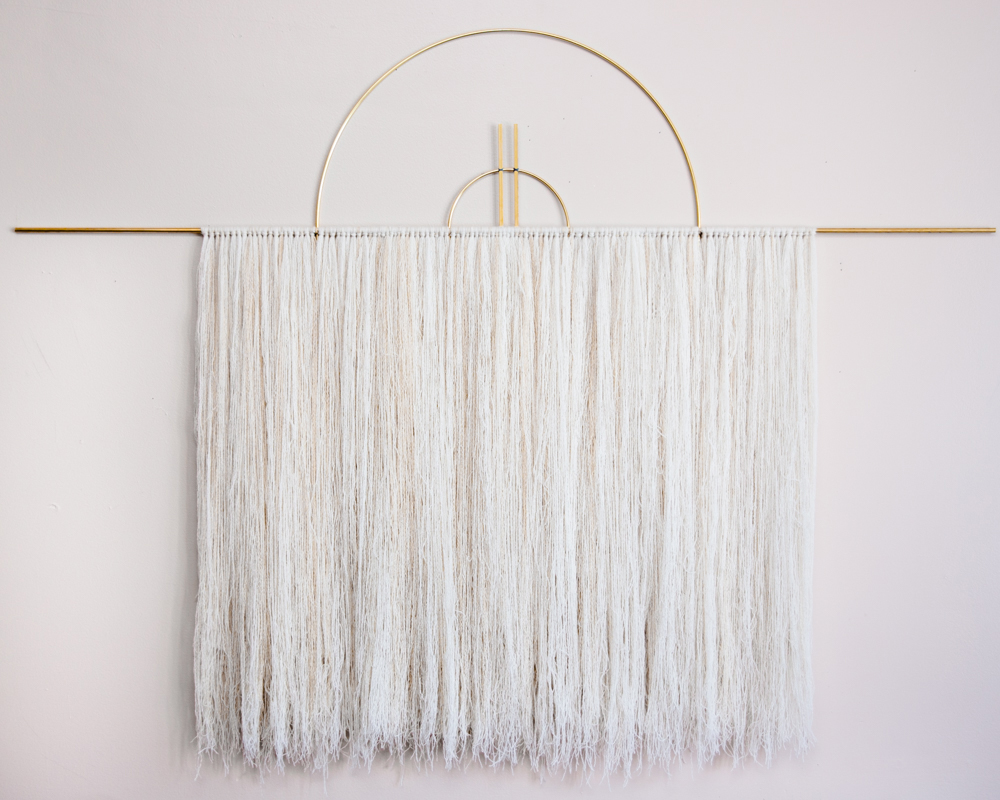 BRASS AND CASHMERE OVERSIZED WALL HANGING