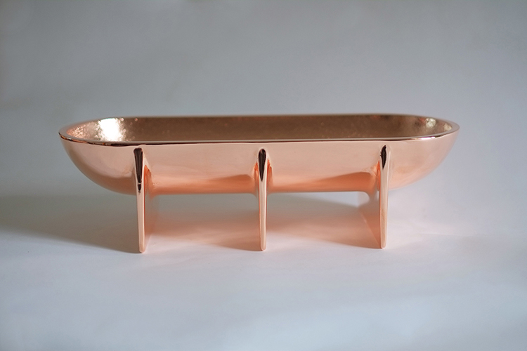 COPPER STANDING BOWL