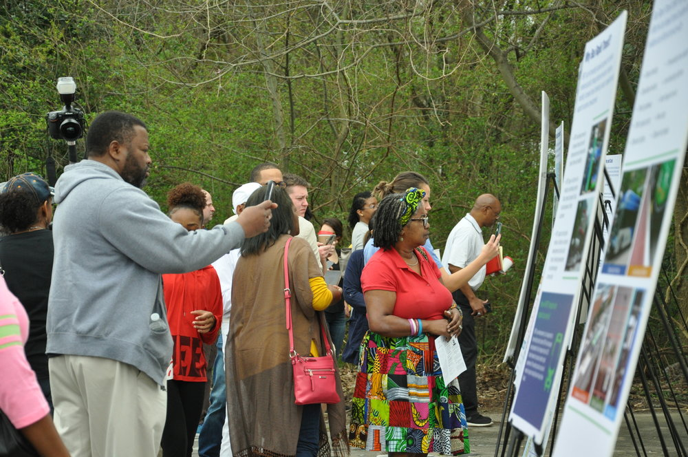 The EBR Redevelopment Authority led a tour of Plank Road to get input for a master plan for the main road in North Baton Rouge.