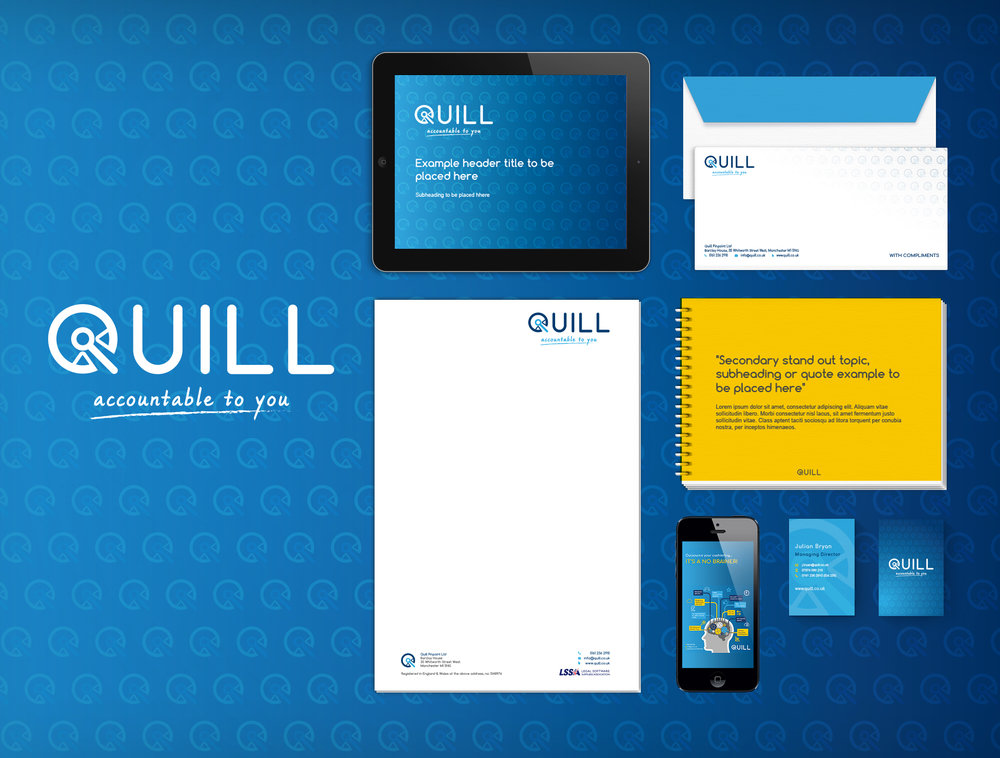 Quill branding by The Launch Room Creative