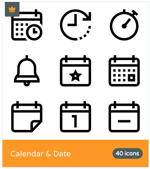 Flaticon Calendar Icons