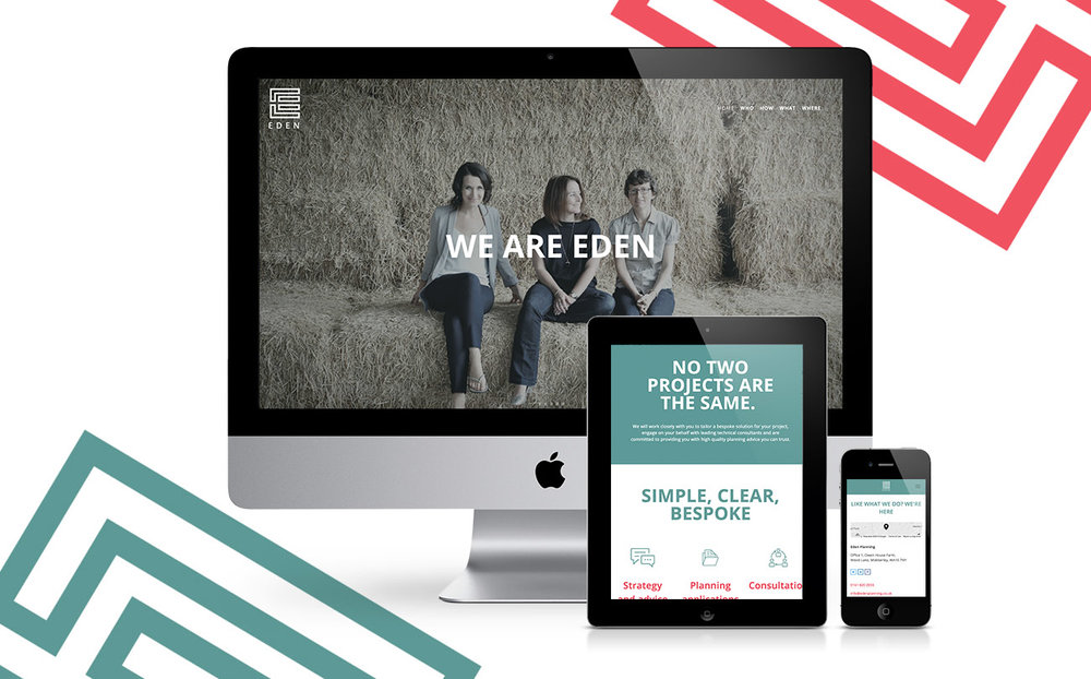 Mobile reactive website for Eden Planning courtesy of The Launch Room Creative and Squarespace