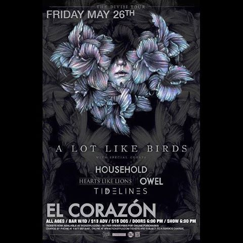 Who's coming out to see us play with @alotlikebirds next Friday?