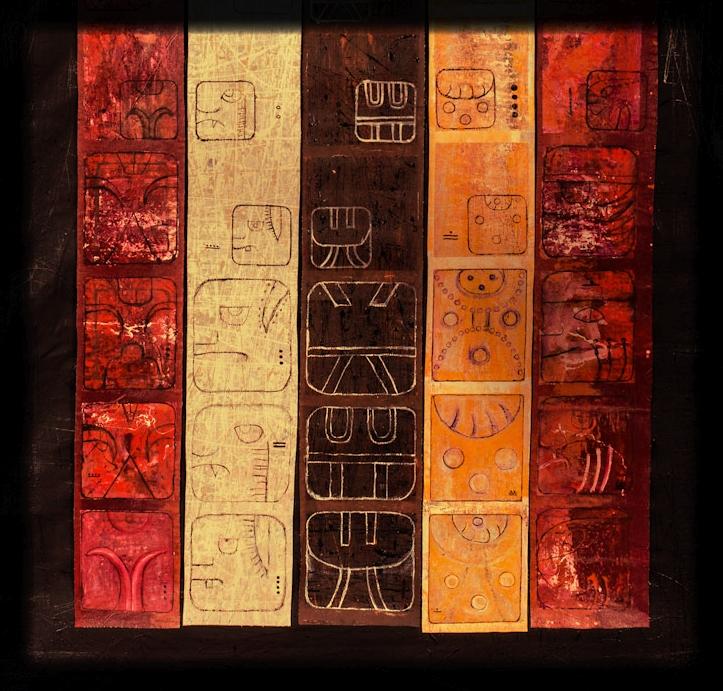 Baatz, EE, Aaj, Ix, Tzikin. from the Cholquij Mayan Calendar 2012 Byron Armando Rabe.