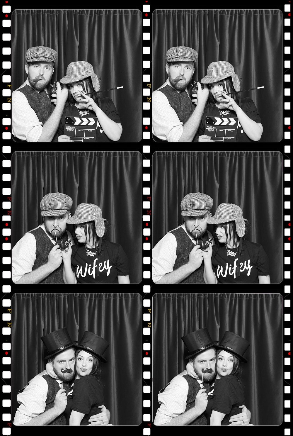 Props to the wonderful  Bygone Photo Booth  for these ridiculous photos of me & my wife.