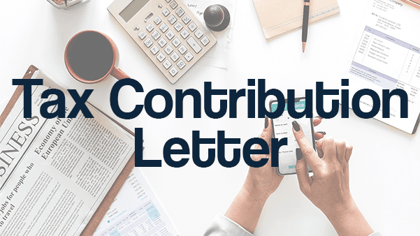 TAX CONTRIBUTION LETTER REQUEST