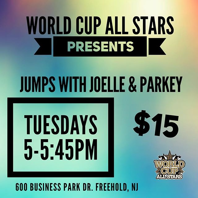 Join Parkey and Joelle for jumps class today 5-5:45 pm.