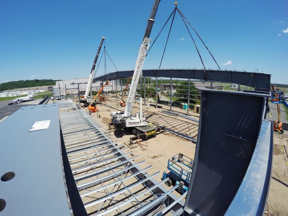 The actual modular lift in progress.