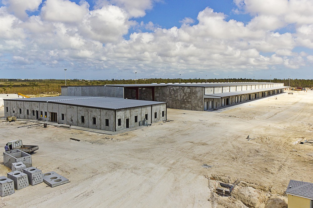 Offices and Loading Docks of Nassau Inland Container Terminal.