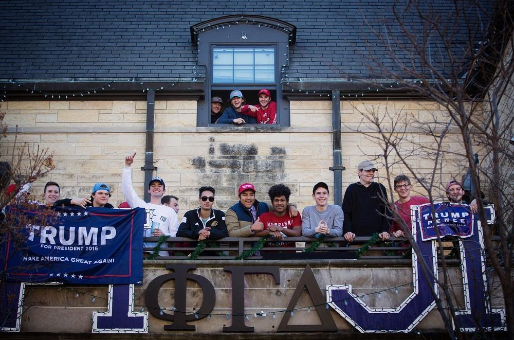 "UNL's Fraternity, Phi Gamma Delta, or ""Fiji"". Photo by Calla Kessler."