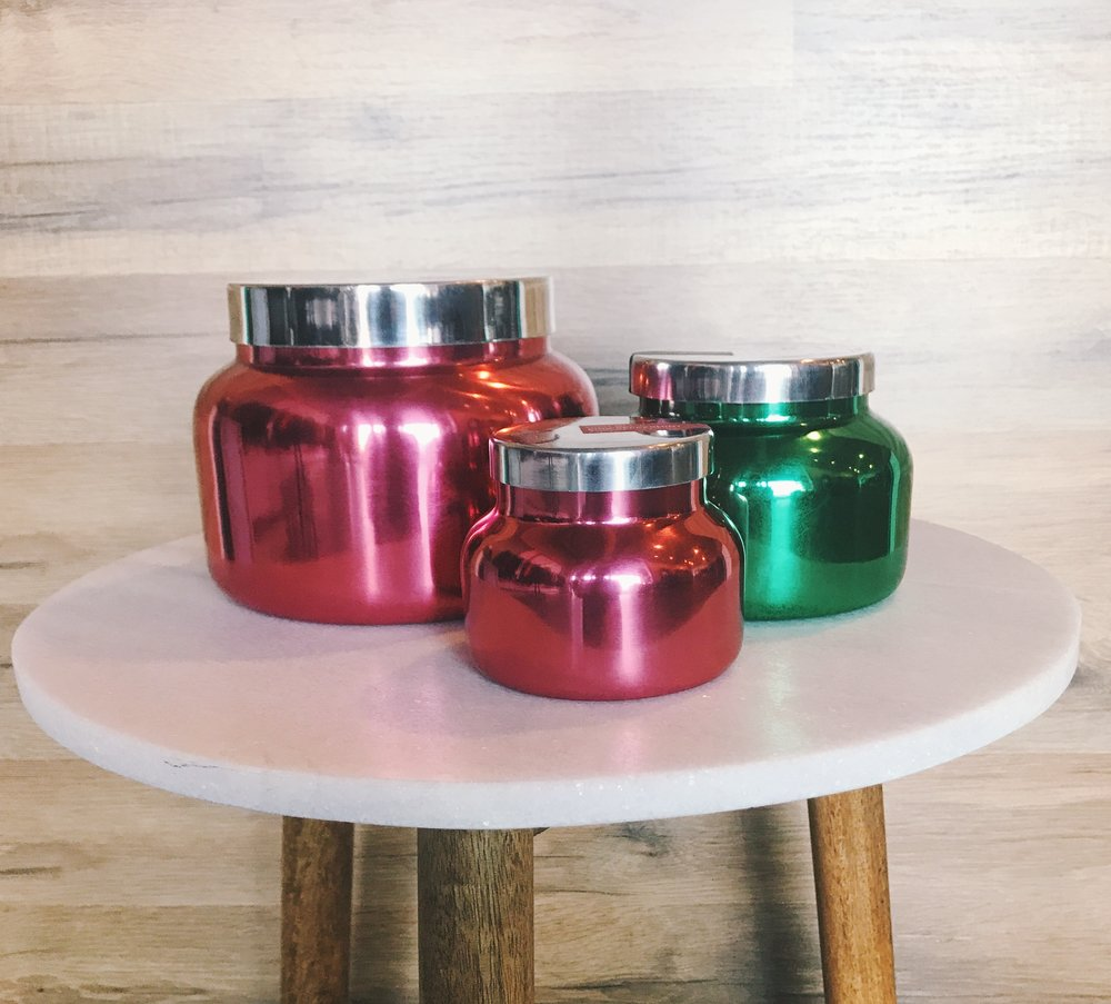 Holiday Smells - The one thing that's better than holiday décor is the smells! Holiday candles are by far one of the best (and easiest) gifts to give someone on your list. We have a ton of colors to chose from that would be ideal for Men and Women. Small: $19.50Medium: $28Large: $78