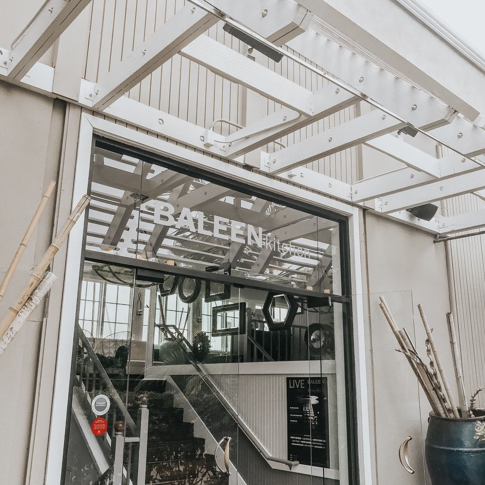 L U N C H - Baleen Kitchen is the restaurant connected to Portofino Hotel. We hit up this place for a quick lunch (and a couple drinks of course)