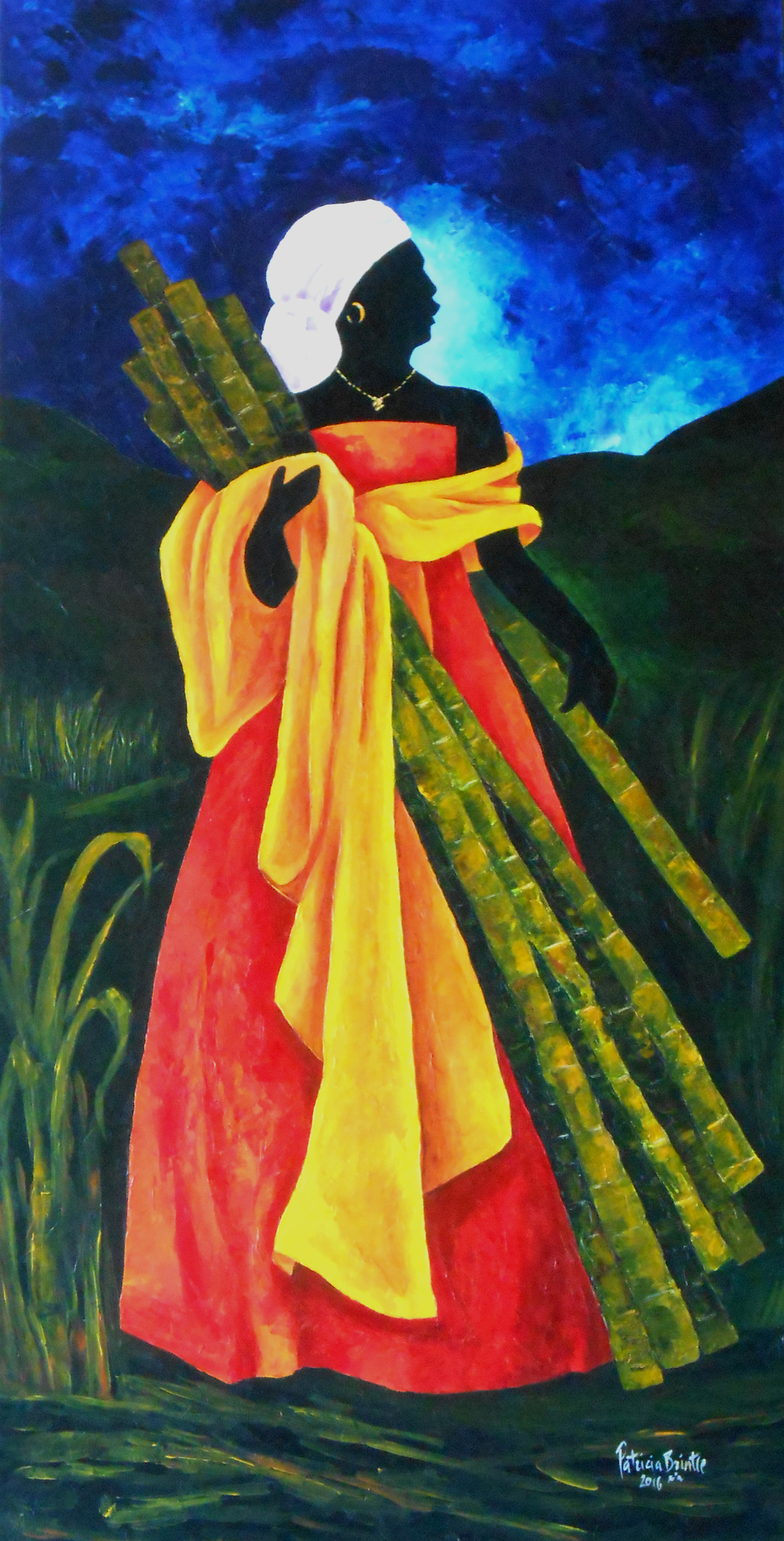 Season sugarcane I 48x24 Acrylic on canvas 2016 ps.jpg