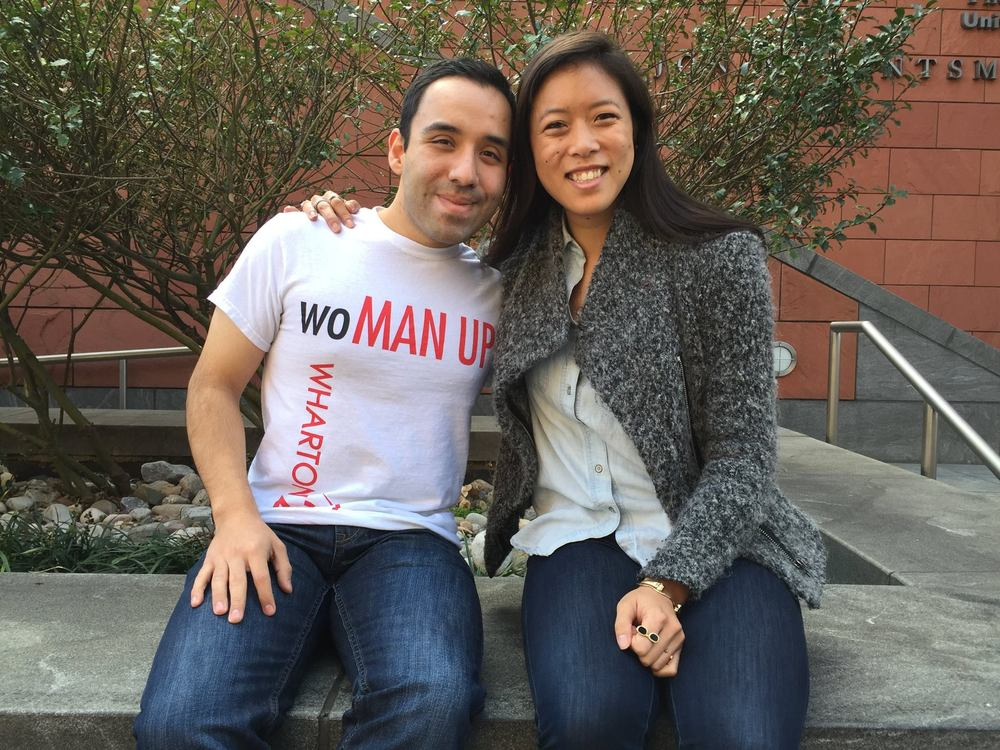 ‪#‎becauseofHer‬ powerful leadership, wisdom, charisma and thoughtfulness, I stand up for gender equality. #becauseofHer commitment to driving systemic change, I know that she will have an immensely positive and lasting impact.  -Eric Macias WG'16 and Justine Lai