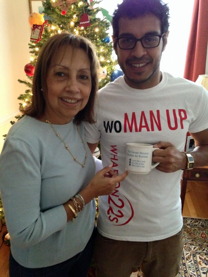 ‪#‎BecauseOfHer‬ I stand up for gender equality at the workplace. I grew up hearing stories of her struggles and successes at work and seeing her drink from this mug for more than 25 years. -Sebastian Apud WG'17 and Graciela