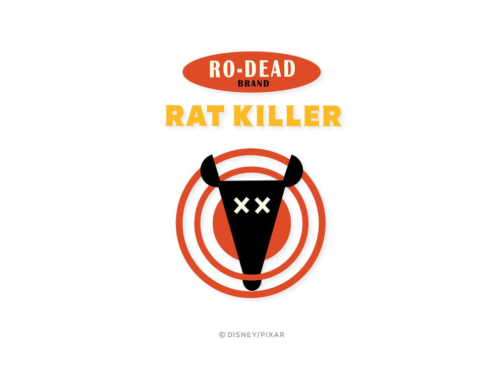 """Packaging logos for Pixar's """"Ratatouille"""""""