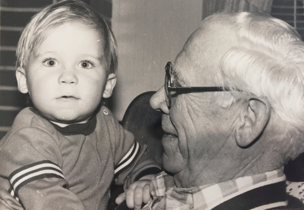 Baby Alex and Grandpa Rolfes