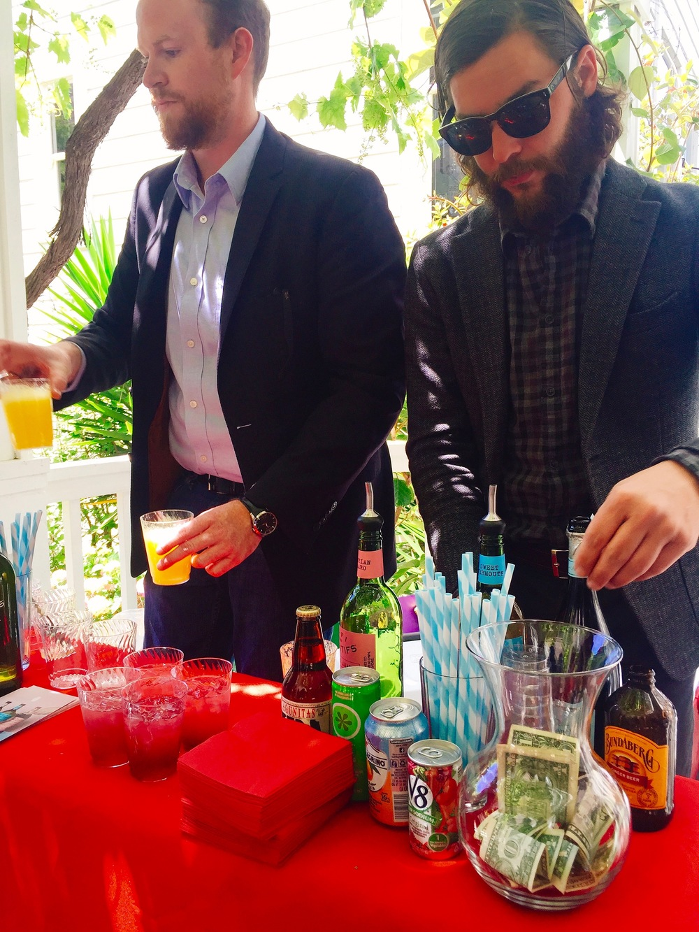 Chris making some tasty cocktails at the Elevate Ensemble event