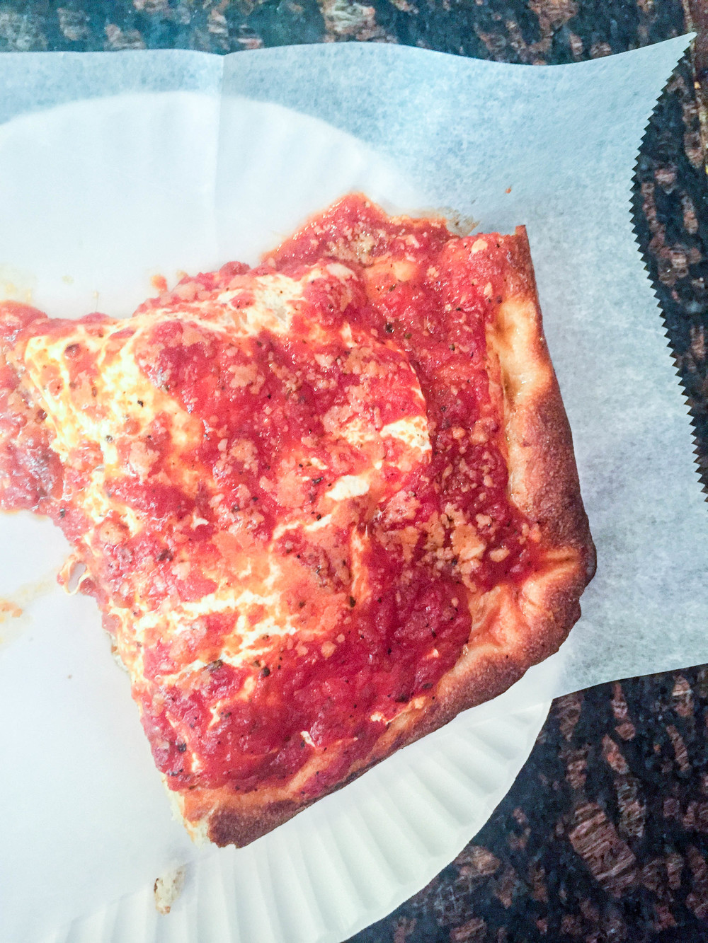 I could literally eat more than just one slice.  Tip: ask them to make it extra crispy when you order.