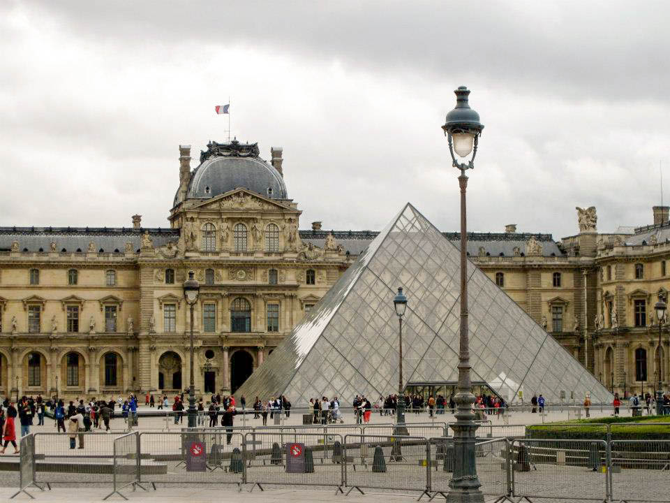 The Louvre where Cafe Marly is located