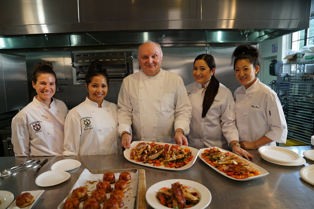 Cooking with Chef Jean-Marc Fullsack at USF
