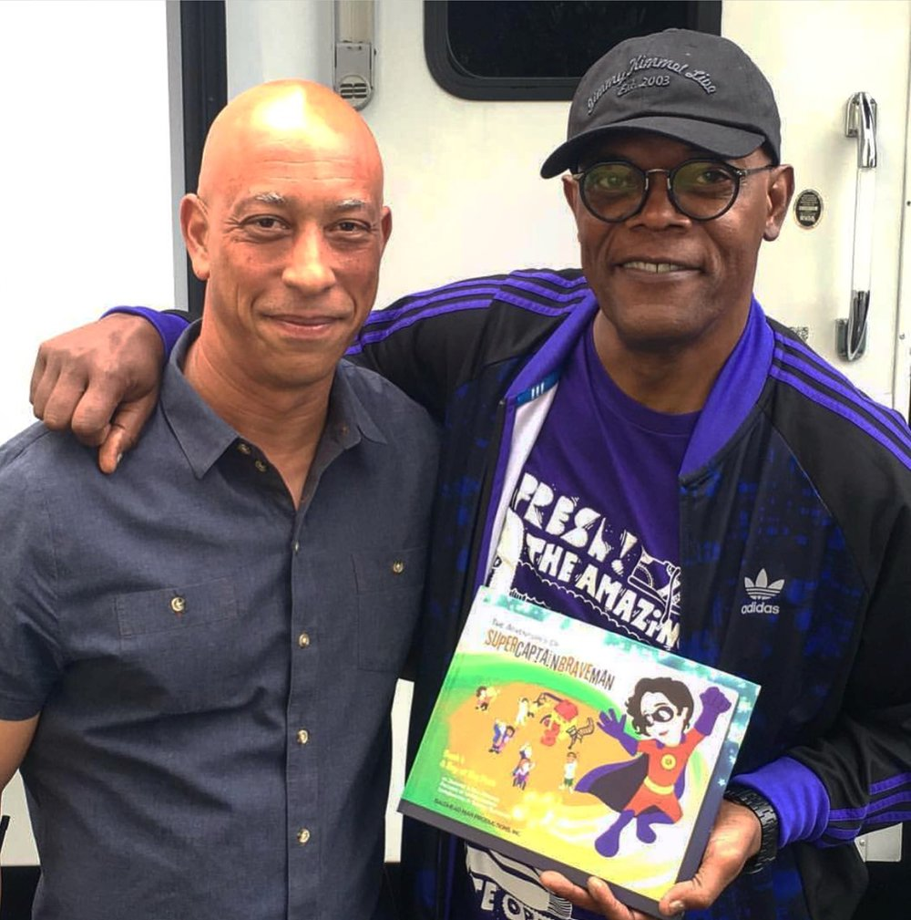 Supercaptainbraveman co-author PAUL NORMAN WITH Samuel l. jackson