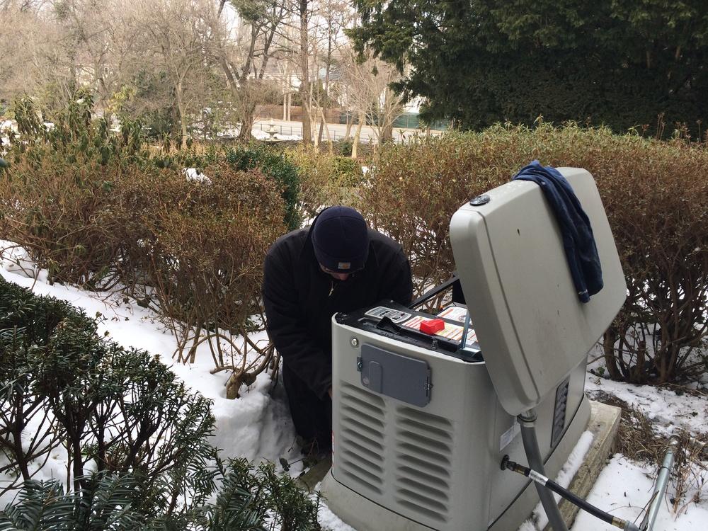 Generator maintenance.