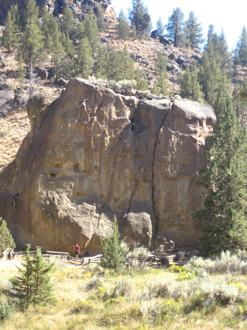 My first outdoor 5.10 climb. Smith Rock, OR.  photo: Lucas Posada