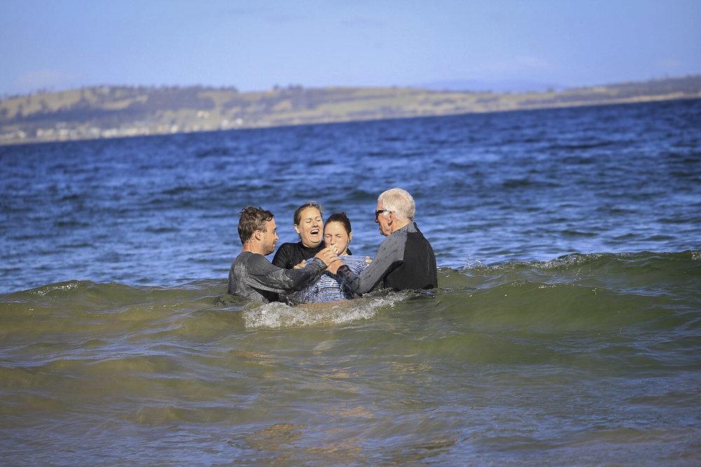 Baptism at Kingston Beach
