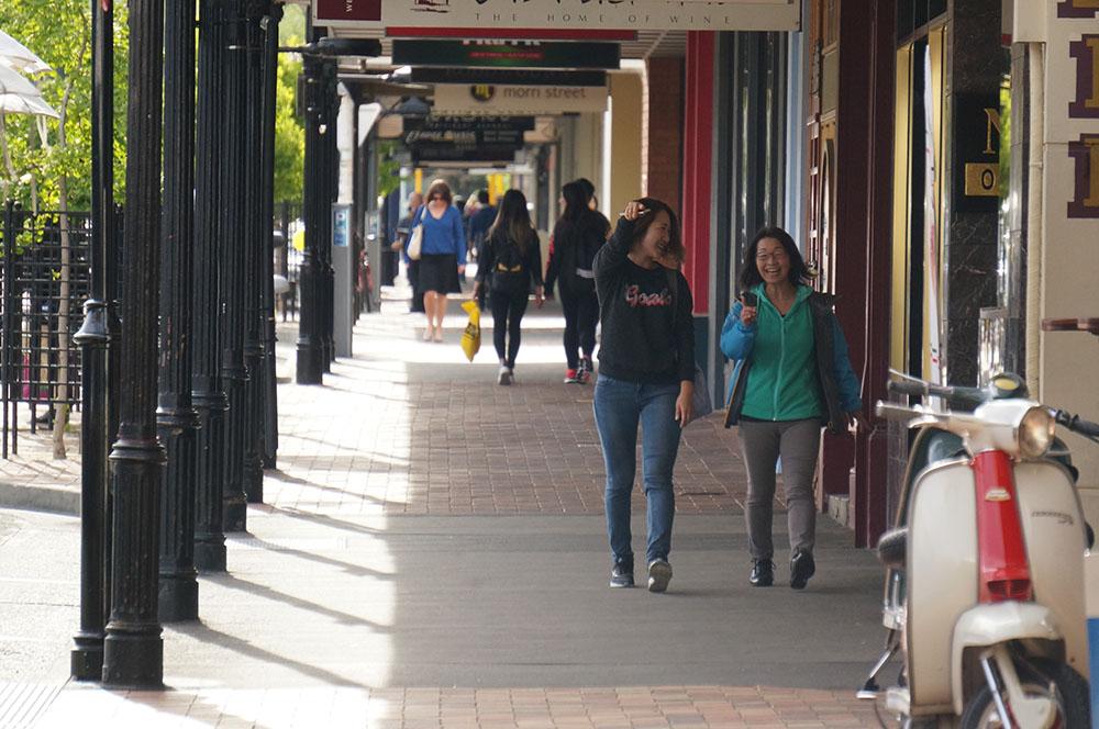 Strolling on Hardy Street