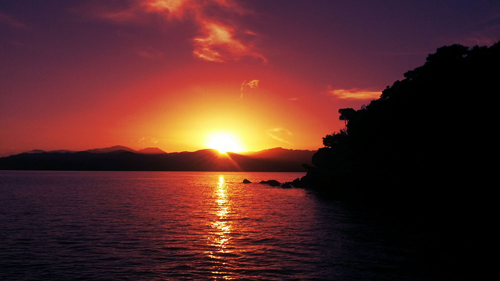 Sunset in the Abel Tasman National Park