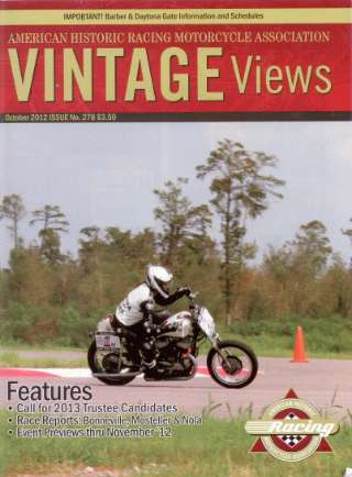"""Vintage Views  (November-December 2012) - """"Barber Vintage Fest: Where History, Racing and Cafe Racer Culture Blend For One Fast, Beautiful Weekend"""""""